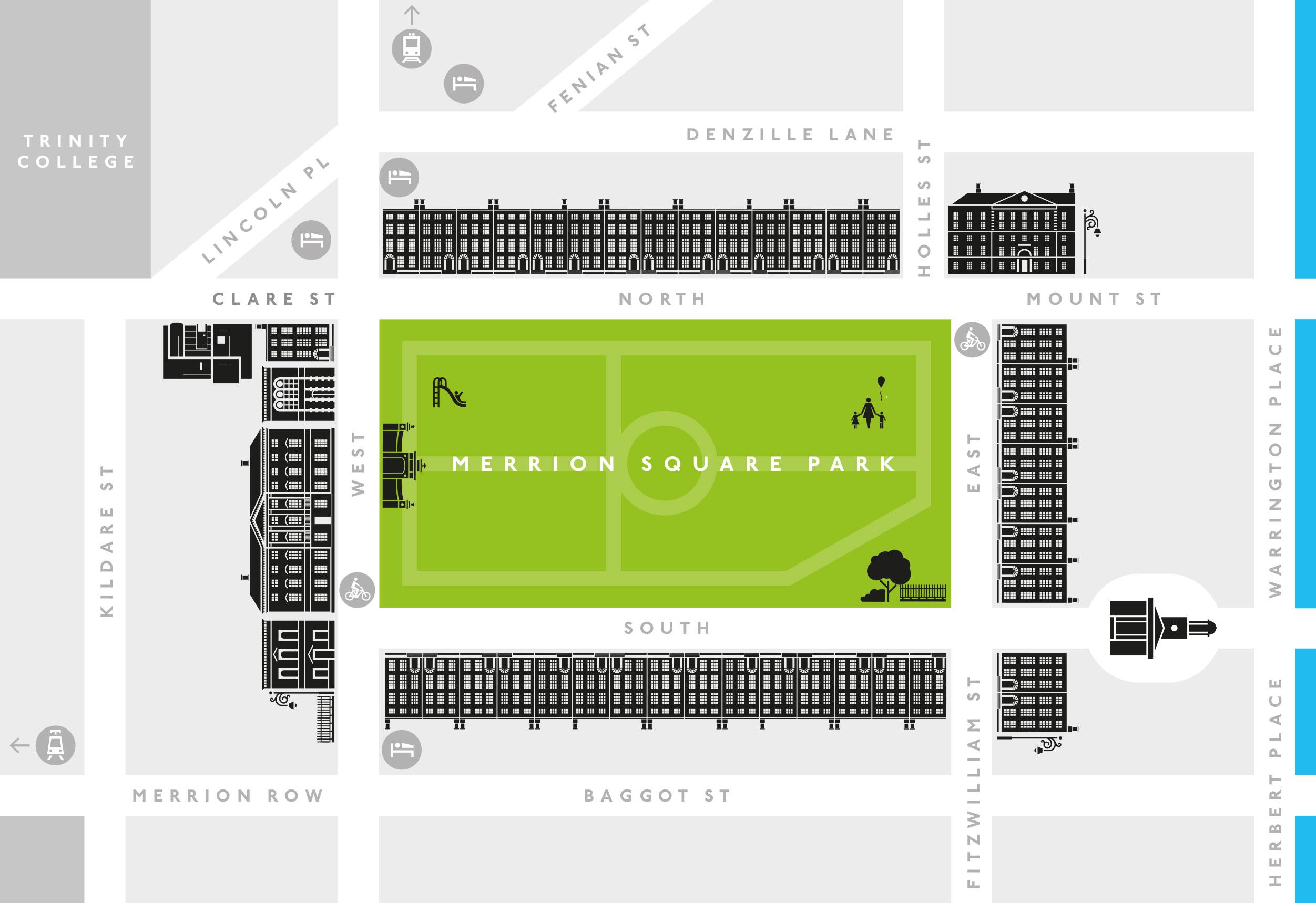 Map Merrion Square