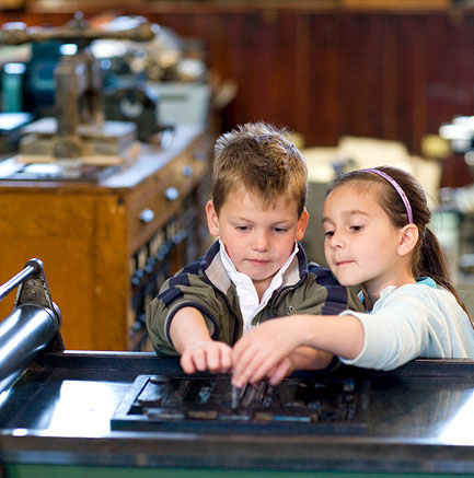 Children at the National Print Museum